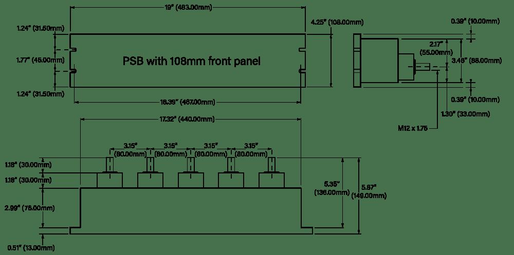 108mm Distribution Box