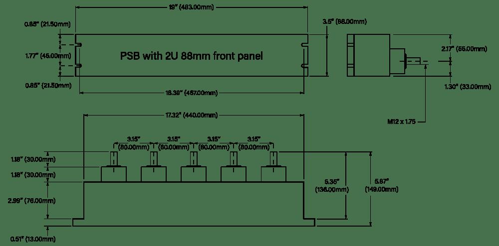 88mm Distribution Box